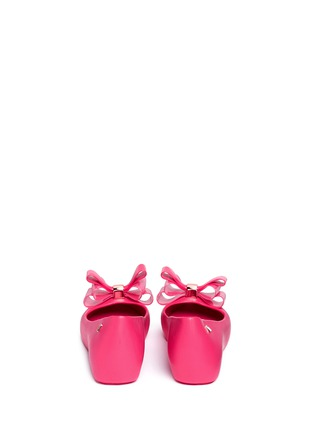 Back View - Click To Enlarge - Melissa - 'Ultragirl Sweet XII' bow PVC flats