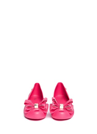 Front View - Click To Enlarge - Melissa - 'Ultragirl Sweet XII' bow PVC flats