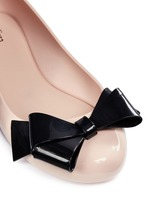 'Space Love IV' bow PVC flats