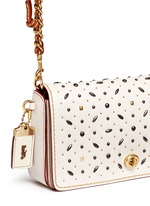 'Dinky' glovetanned leather rivet crossbody bag