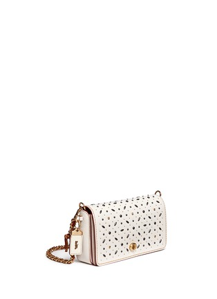Front View - Click To Enlarge - Coach - 'Dinky' glovetanned leather rivet crossbody bag