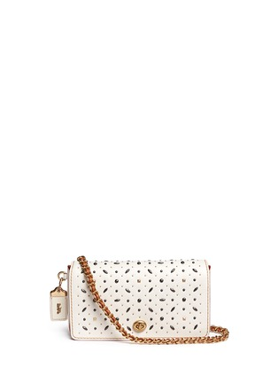 Main View - Click To Enlarge - Coach - 'Dinky' glovetanned leather rivet crossbody bag