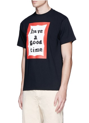 Front View - Click To Enlarge - Have A Good Time - 'Have A Good Time' scribble frame print T-shirt