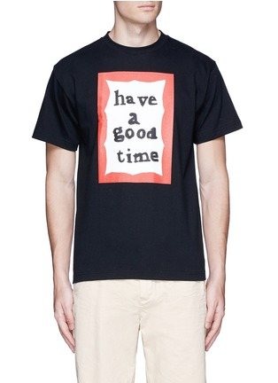 Main View - Click To Enlarge - Have A Good Time - 'Have A Good Time' scribble frame print T-shirt