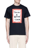 'Have A Good Time' scribble frame print T-shirt