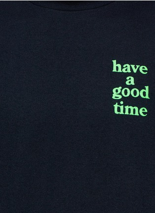 Detail View - Click To Enlarge - Have A Good Time - Beach back print T-shirt