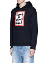 'Have A Good Time' frame print hoodie