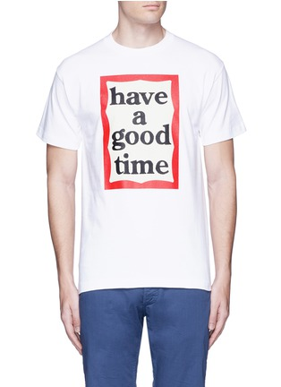 Main View - Click To Enlarge - Have A Good Time - 'Have A Good Time' frame print T-shirt