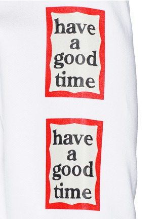 Detail View - Click To Enlarge - Have A Good Time - 'Have A Good Time' frame print sweatshirt