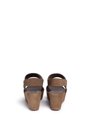 Back View - Click To Enlarge - Pedro García - 'Fiona' suede platform wedge sandals