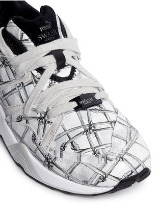 Detail View - Click To Enlarge - Puma - x SWASH 'Blaze of Glory' bone print leather sneakers