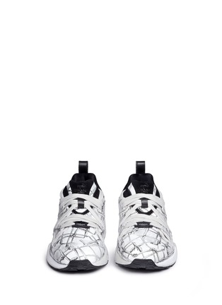 Front View - Click To Enlarge - Puma - x SWASH 'Blaze of Glory' bone print leather sneakers