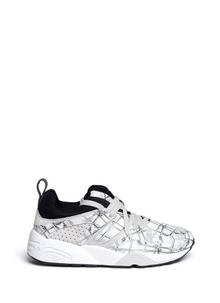 Main View - Click To Enlarge - Puma - x SWASH 'Blaze of Glory' bone print leather sneakers