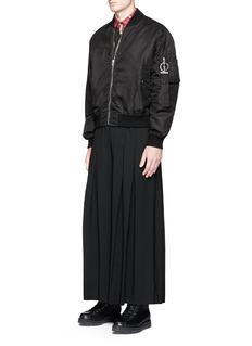 McQ Alexander McQueenWide leg wool crepe kilt pants