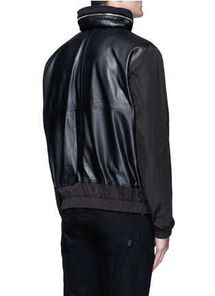 McQ Alexander McQueen - Nylon sleeve leather jacket