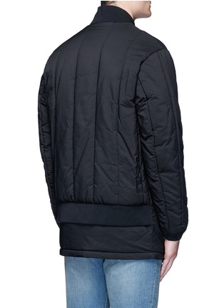 Back View - Click To Enlarge - McQ Alexander McQueen - Long bomber jacket