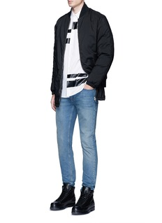 McQ Alexander McQueenLong bomber jacket