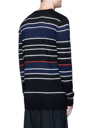 Back View - Click To Enlarge - McQ Alexander McQueen - Knit-brushed stripe sweater