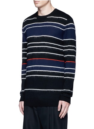Front View - Click To Enlarge - McQ Alexander McQueen - Knit-brushed stripe sweater