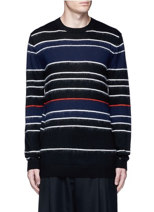 Main View - Click To Enlarge - McQ Alexander McQueen - Knit-brushed stripe sweater