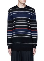 Knit-brushed stripe sweater