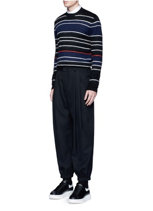 Figure View - Click To Enlarge - McQ Alexander McQueen - Knit-brushed stripe sweater