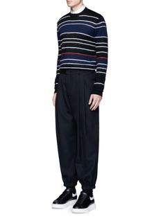McQ Alexander McQueen Knit-brushed stripe sweater