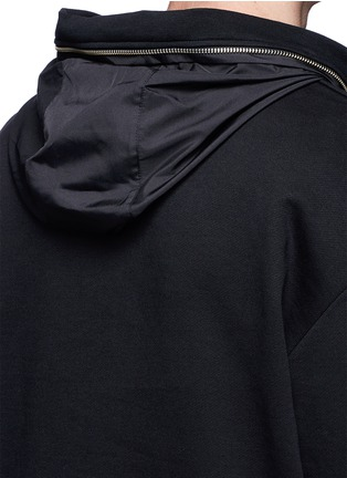 Detail View - Click To Enlarge - McQ Alexander McQueen - Drawstring nylon hem sweatshirt