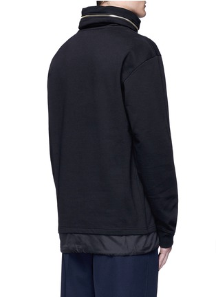 Back View - Click To Enlarge - McQ Alexander McQueen - Drawstring nylon hem sweatshirt