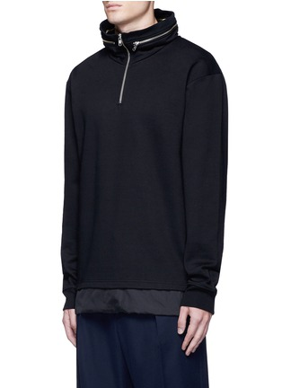Front View - Click To Enlarge - McQ Alexander McQueen - Drawstring nylon hem sweatshirt