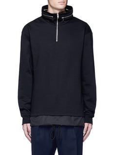 McQ Alexander McQueenDrawstring nylon hem sweatshirt
