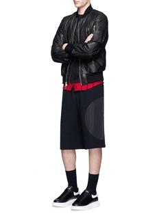 McQ Alexander McQueenTartan plaid hem long sleeve T-shirt