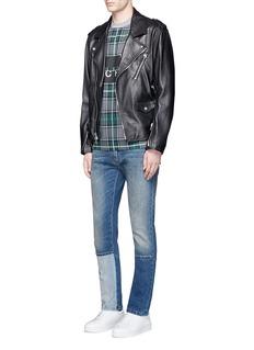 McQ Alexander McQueenTartan plaid front T-shirt