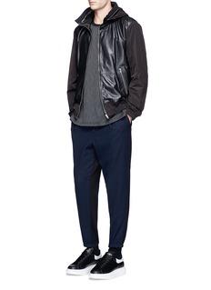 McQ Alexander McQueenContrast back wool jogging pants