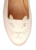 'Incy Kitty' satin toddler slip-ons