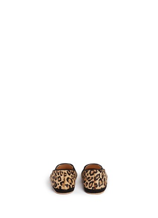Back View - Click To Enlarge - Charlotte Olympia Kids - 'Kitten' leopard print calfhair infant slip-ons
