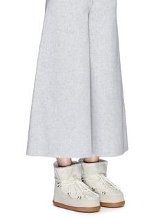 INUIKIISheepskin shearling cable knit boots
