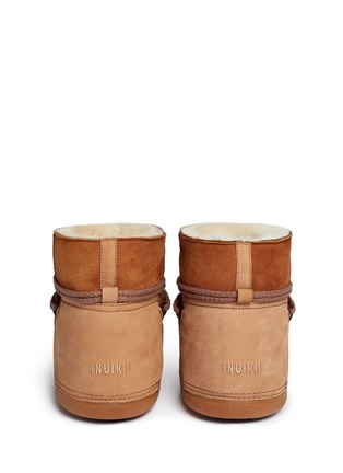 Back View - Click To Enlarge - INUIKII - 'Classic Patchwork' sheepskin shearling boots