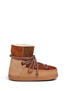 INUIKII'Classic Patchwork' sheepskin shearling boots