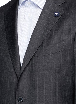Detail View - Click To Enlarge - Lardini - Pinstripe wool suit
