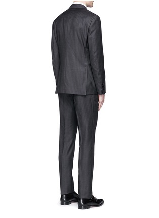 Back View - Click To Enlarge - Lardini - Pinstripe wool suit