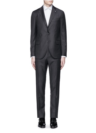 Main View - Click To Enlarge - Lardini - Pinstripe wool suit