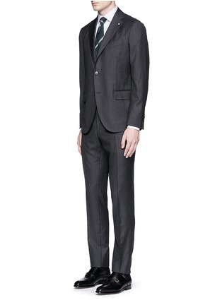 Figure View - Click To Enlarge - Lardini - Pinstripe wool suit