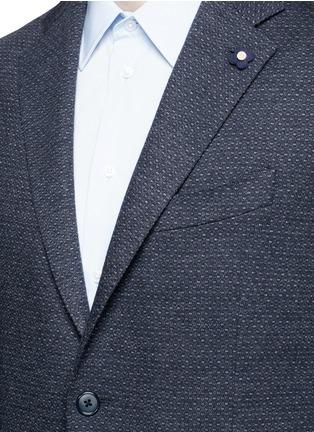 Lardini-Dot jacquard cotton-wool jersey soft blazer