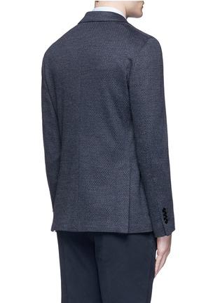 Back View - Click To Enlarge - Lardini - Dot jacquard cotton-wool jersey soft blazer