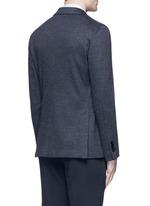 Dot jacquard cotton-wool jersey soft blazer