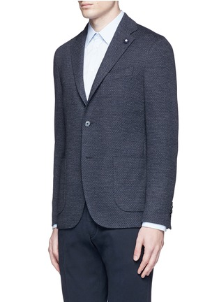 Front View - Click To Enlarge - Lardini - Dot jacquard cotton-wool jersey soft blazer