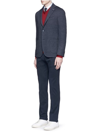 Figure View - Click To Enlarge - Lardini - Dot jacquard cotton-wool jersey soft blazer