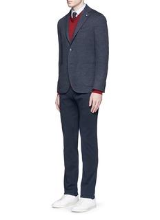 LardiniDot jacquard cotton-wool jersey soft blazer