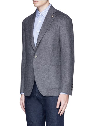 Front View - Click To Enlarge - Lardini - 'Leisure' silk cashmere flannel blazer